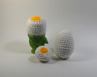 Boiled Egg Amigurumi - Soft Boiled Egg Crochet - Plush Breakfast