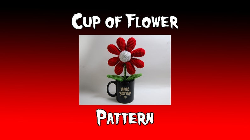 Cup of Flower PDF Crochet Pattern cup NOT included  image 0