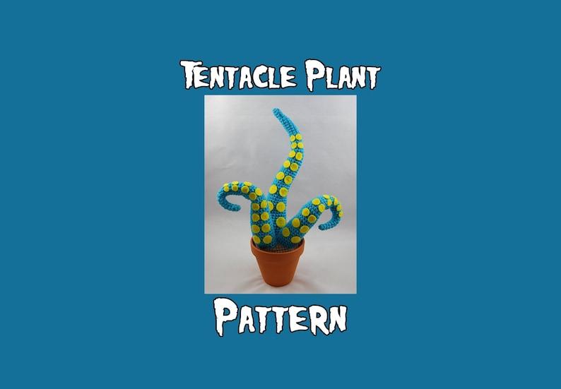 Tentacle Plant Crochet Pattern  Amigurumi Tentacle Plant  image 0