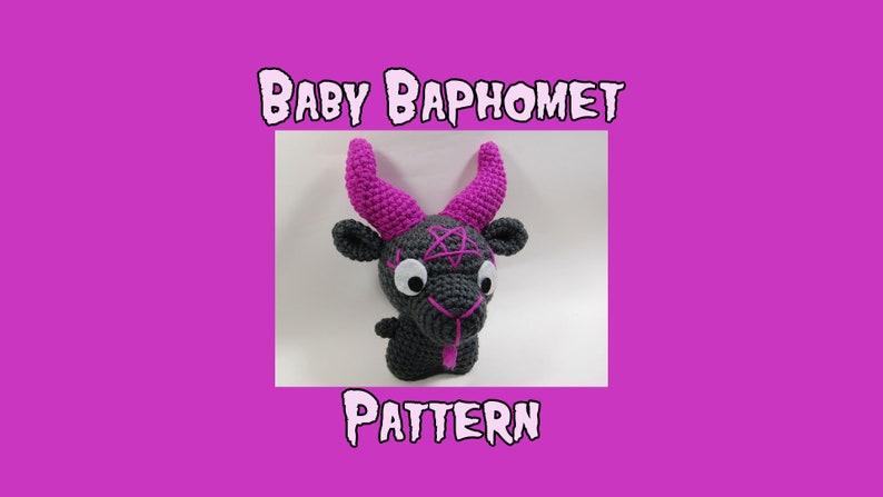Baby Baphomet Crochet Pattern  Amigurumi Baby Baphomet PDF  image 0