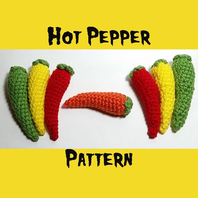 Hot Pepper Pattern  PDF Crochet Pattern  Crochet Chili image 0