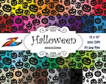 Labor Day Sale Seamless paper Halloween Digital Paper Commerical Use Seamless pattern Pumpkin digital paper scrapbook Halloween background