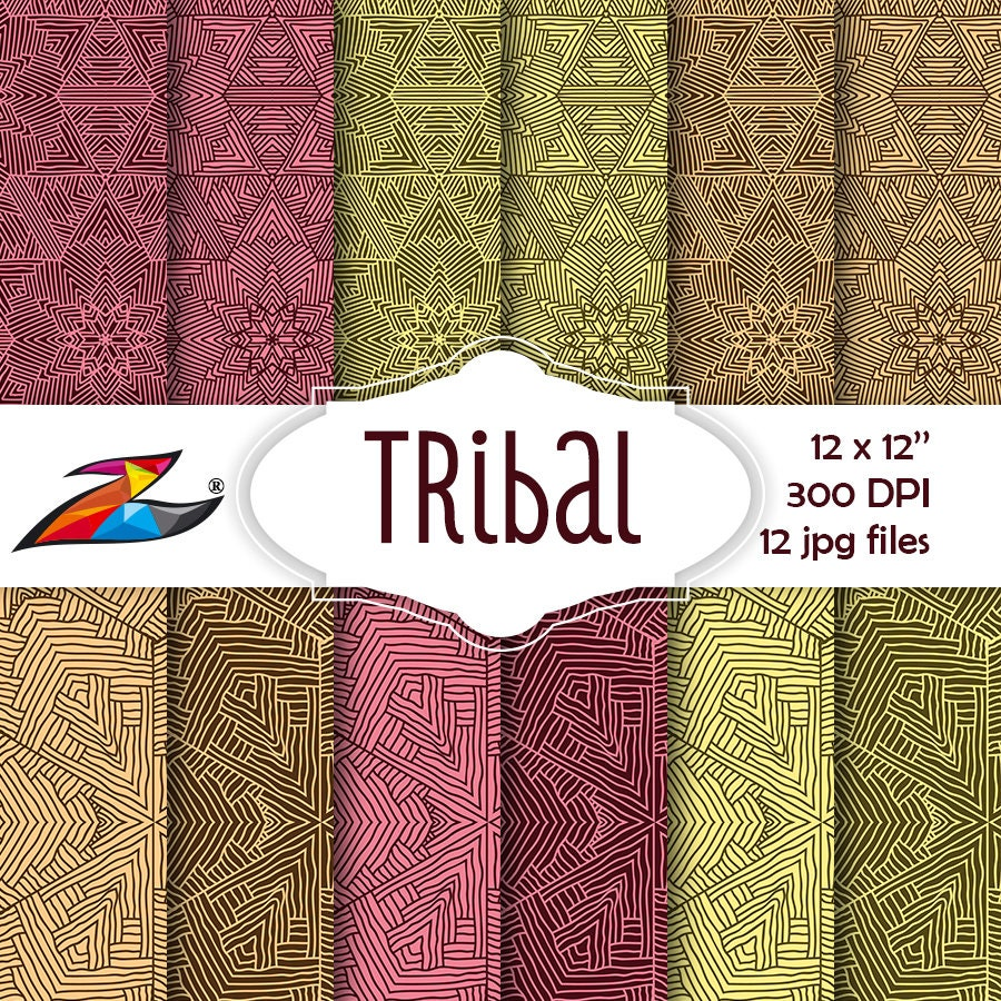 labor day sale tribal digital paper commercial use aztec etsy. Black Bedroom Furniture Sets. Home Design Ideas