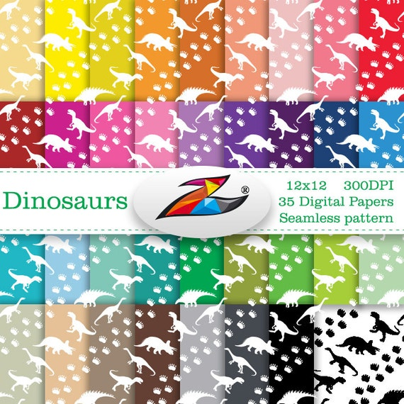 Labor Day Sale Seamless Pattern Dinosaur Digital Paper Commerical Use Birthday Scrapbook Paper Dinosaur Background Kids Digital Paper