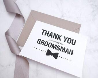 Groomsman Card, Be my groomsman, Best man card, Groomsman proposal, Groomsman gift, Thank you groomsman, Groomsman invite, Groomsman box