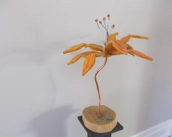 Amber Flower Sculpture