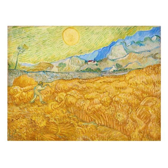 Vincent Van Gogh Yellow landscape print in