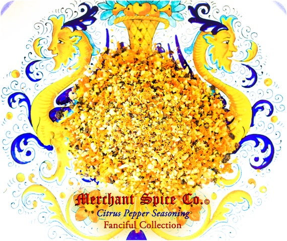 Citrus Pepper Seasoning from the Fanciful Collection by Merchant Spice Co.