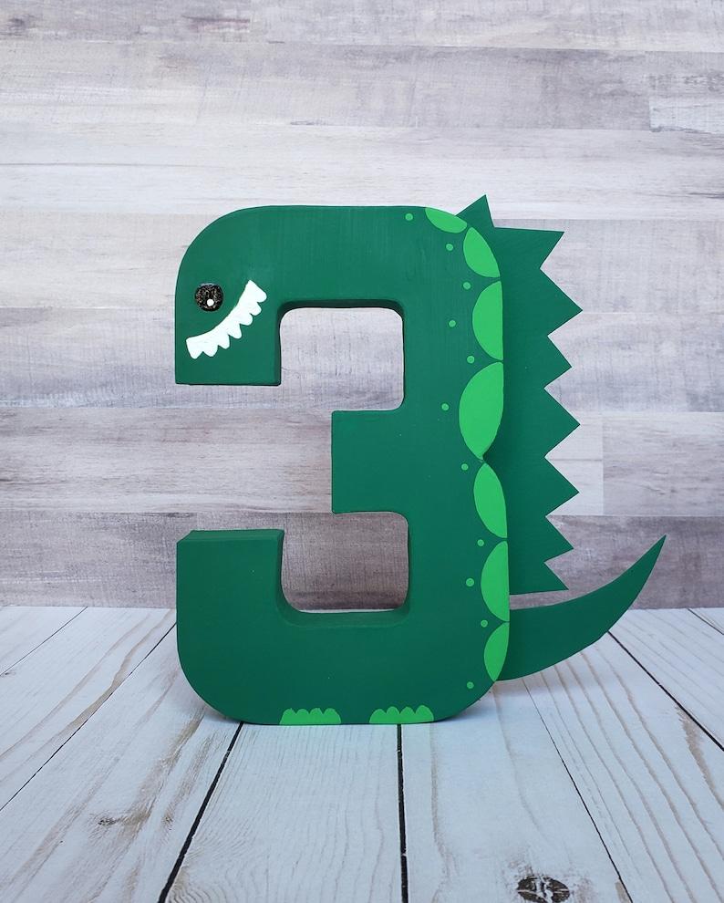 Dinosaur photo prop dinosaur age birthday decor paper mache image 0