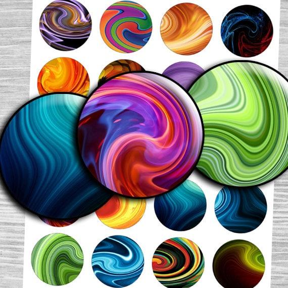 1.25 30mm 1.5 Glass Marbles images Digital collage 1 inch Sheet circles bottlecap digital images printable 1 inch  td322