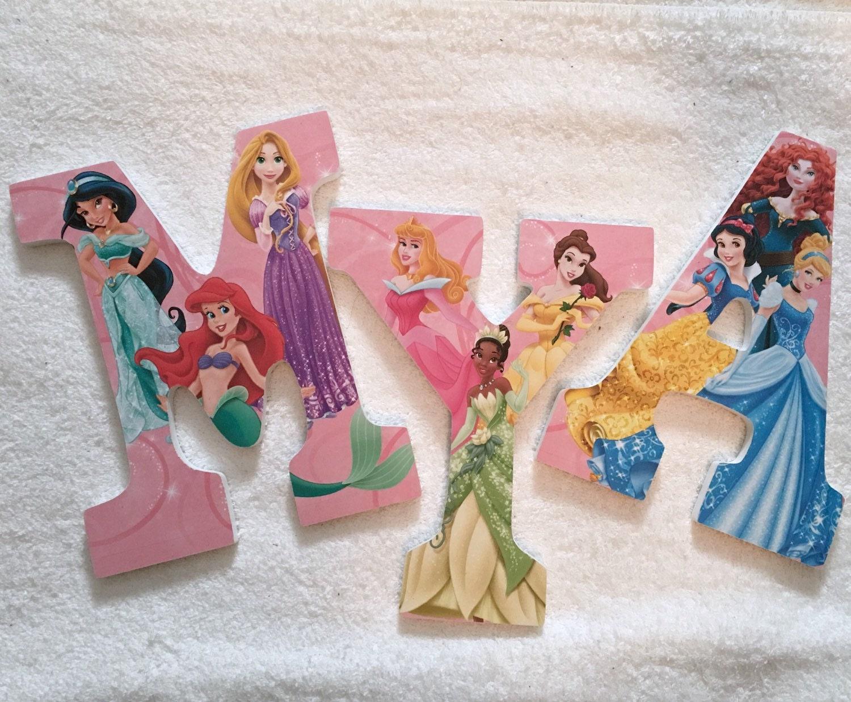 Custom Wooden Letters Or Numbers Princess Disney