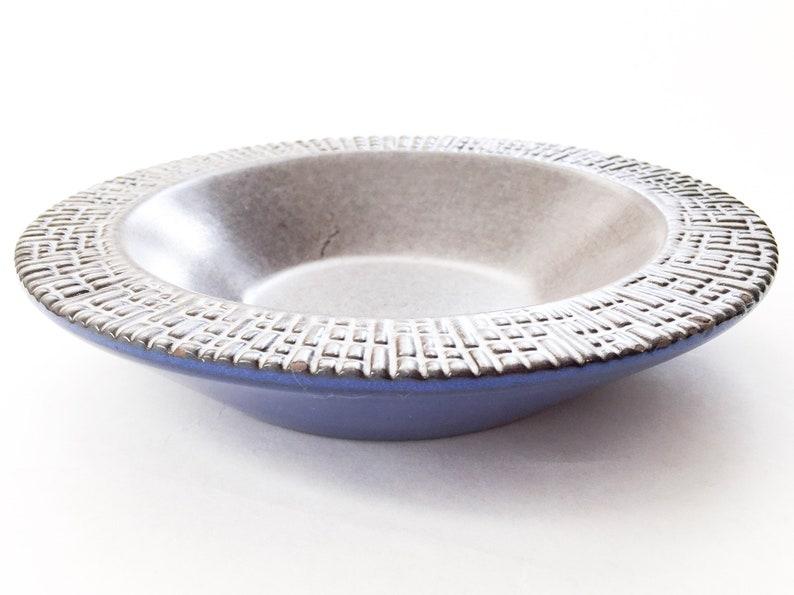 earthenware 1960s grey bowl Upsala Ekeby bowl 60s 50s vintage clay bowl retro bowl Swedish blue bowl mid century Scandinavian vintage