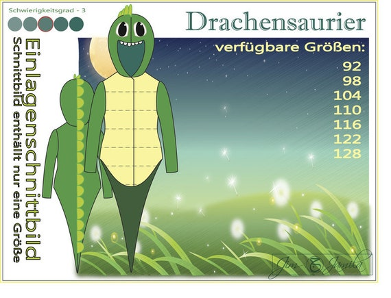 Drachensaurier Schnittmuster zum Downloaden | Etsy