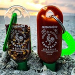 Sriracha keychain, sriracha key chain, sriracha 2 go, sriracha to go, travel sriracha bottle, 1 ounce bottle sriracha, siracha gift, gifts