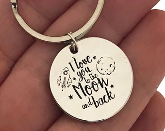 Love you to the moon and back keychain, love you to the moon and back gift, valentines day gift, I love you gift, mothers day gift, gifts