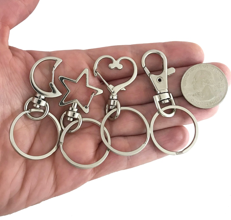 10pc keychains with clips bulk key rings with clips key ring image 0