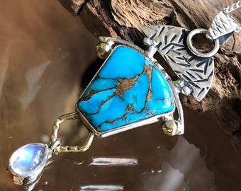 arizona copper turquoise natural cabochon gemstone fancy shape 35.15cts size 35x20x4mm