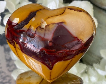 """Mookaite Crystal Heart Carving (Australia) """"Nurturing, Grounding and Shielding""""."""