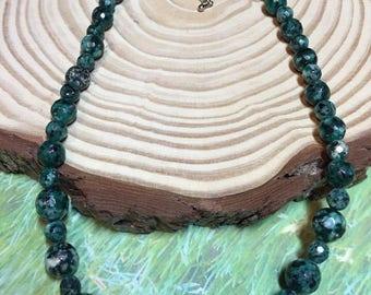 Green Moss Agate Choker Necklace