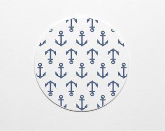 Letterpress Anchor Pattern Coaster