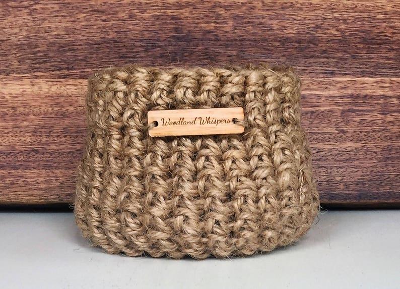 Niewiarygodnie Kosz z juty/kosz na szydełko z juty/Handmade Basket z | Etsy WT08