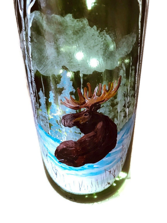 Moose Hand Painted Old Fashion