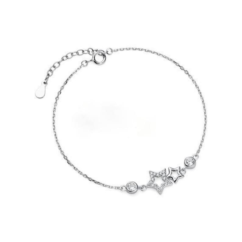 delicate bracelet stars bracelet Silver bracelet with stars