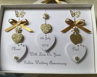 50th wedding card etsy