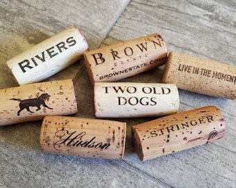 Wine Corks / DIY Projects / Ornaments / Party Favors / Dog Lover Themed Gifts / Cork Boards / Trivets / Coasters / Craft Supply Surplus