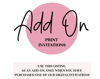 printed invitations etsy