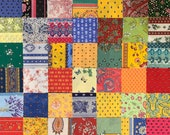 Provence charm pack of authentic French cotton fabrics. 42 different 5 quot squares