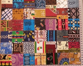 "Charm Pack of 5"" squares of 42 West African fabrics"