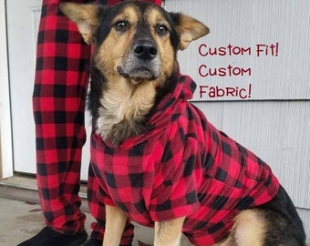 great for christmas photos and gifts custom fit fleece matching dog and owner hoodie sweater and pajama pants free shipping