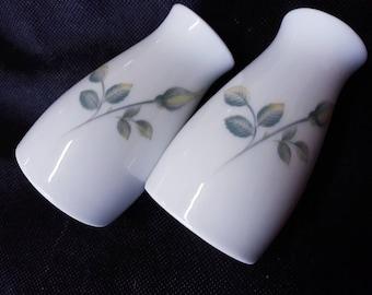 Noritake Salt and Pepper Shakers Cool Tones Simple Elegant Design