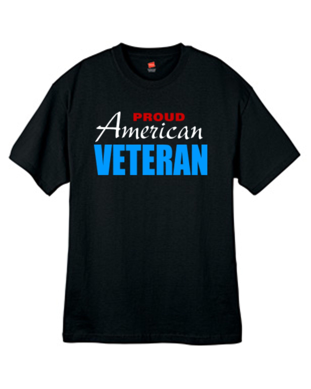 fddfde6498b Mens Proud American Veteran T Shirt Black Sizes Small Thru 2XL