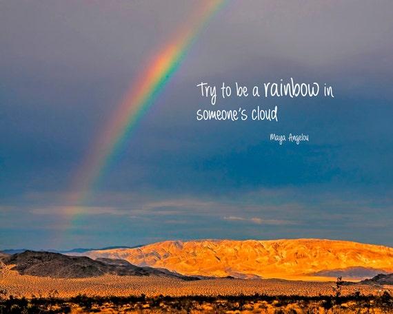 Inspirational Quote Rainbow Photography Typography Print Etsy