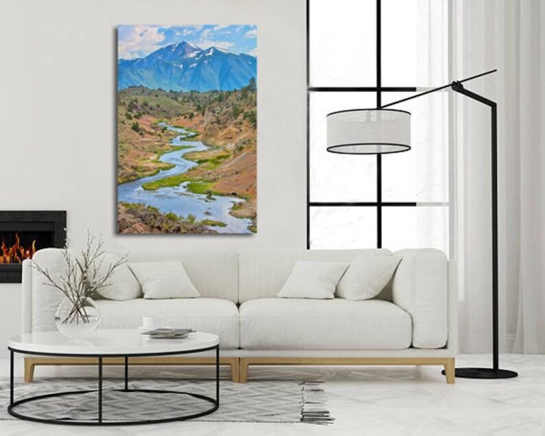 California Mountain Photograph, Eastern Sierras River Photo,Mountain  Stream, Landscape Photography, Nature Art Print, Large Wall Art