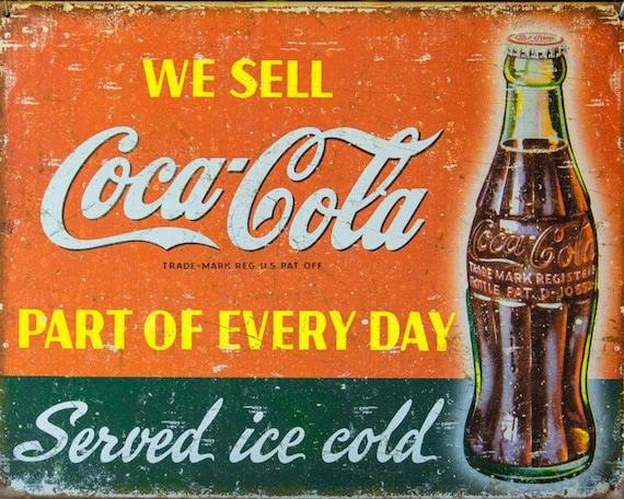 Kitchen Wall Art Coca-Cola Lovers Wall Art Cafe Decor   Etsy