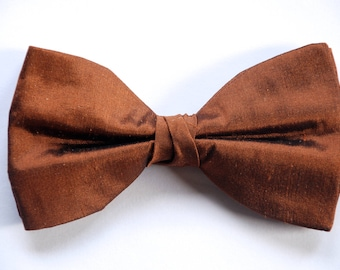 brown bow tie etsy