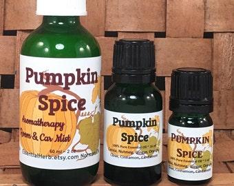 PUMPKIN SPICE Essential Oil, PSL, Pumpkin Latte, Seasonal Diffusing Blend, Thanksgiving, Holiday, Fall, Winter, Aromatherapy Diffuser Blend
