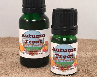 Autumn Treat, Fall Essential Oil Diffuser Blend, Thanksgiving, Holiday, Fall, Autumn, Open House, Cinnamon, Frankincense, Orange Spice