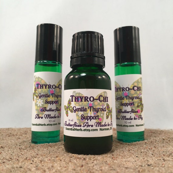 THYRO-CHI 100% Pure Essential Herb Oil Thyroid Kit w/ Rollerball & Coconut  Oil OR Rollerball Already Made for You