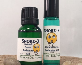 SNORE-X Essential Oil Blend Pure Natural Aid for Snoring Reduction