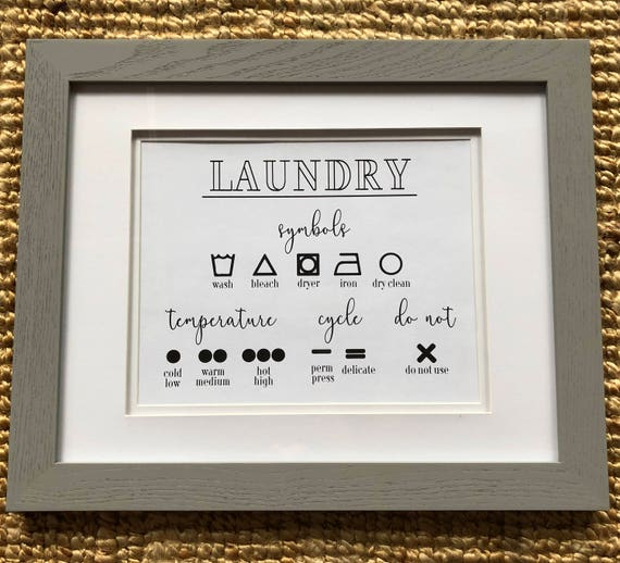 Laundry Symbols - Logo Guide- How To Wash Instant Download Print