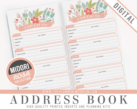 photo about Midori Insert Printable referred to as Midori Go over E book Inserts - ROSA Choice - Midori
