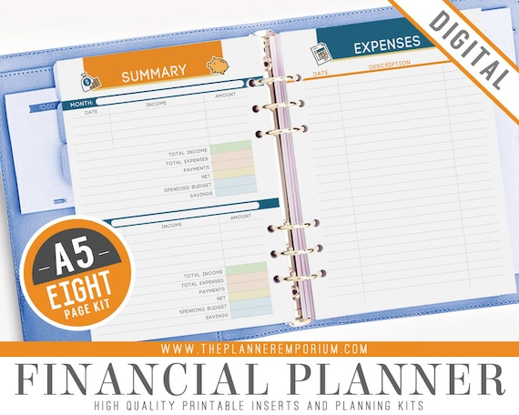 It is a picture of Printable Financial Planner within paycheck