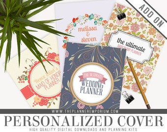 Add On - Personalized Cover Page for Any Planner - Pregnancy, Wedding, Newborn, Baby Milestone Planners and More - Name, Household, Surname
