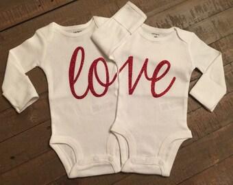 Twins Love Body Suit Set