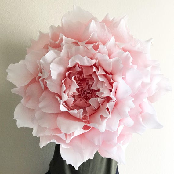 Giant paper flower crepe paper peony nursery wall etsy image 0 mightylinksfo