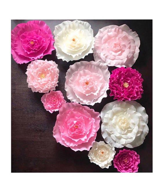 Crepe Paper Flower Wall Decor-Boho Crepe Paper Flower   Etsy